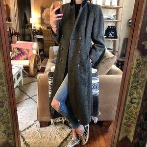 Vintage herringbone wool coat